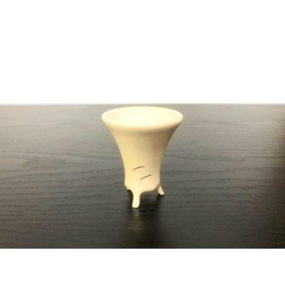 画像1: 沈壽官窯小品盆栽鉢 薩摩焼/薩摩 「銀めだか」 盆器下方